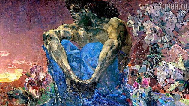 Полотно Михаила Врубеля «Демон (сидящий)». 1890 г.