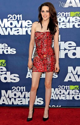 На церемонии «MTV Movie Awards». Лос-Анджелес, 2011 г.