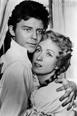 Жерар Филип и Даниэль Даррье в фильме «Красное и черное». 1954 г.