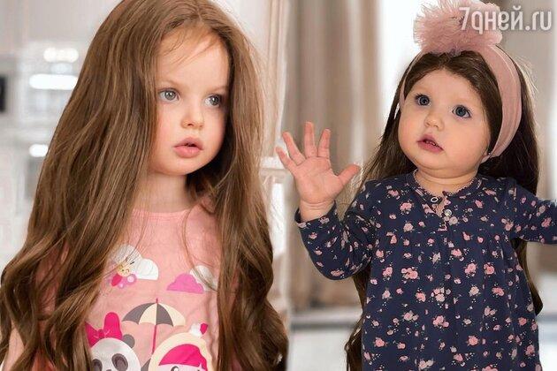 Жутковатые фото дочек Костенко в париках напугали пользователей
