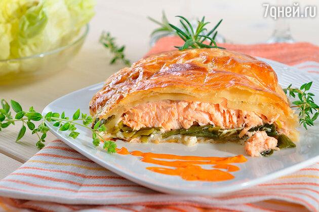 Пирог с осетриной