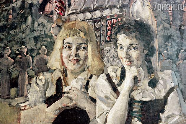 Фото репродукции картины М. Врубеля «Гензель и Гретель». 1896 г. из собрания Н.П. Смирнова-Сокольского