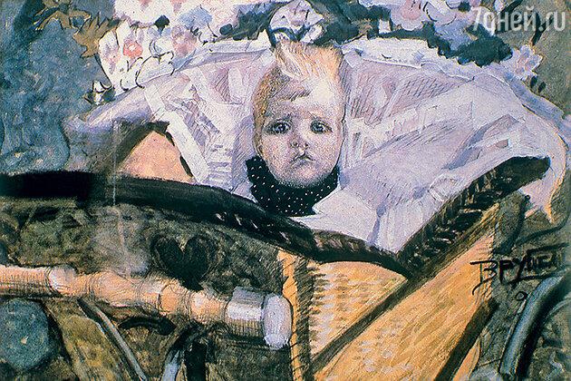 Фото репродукции картины М. Врубеля «Портрет сына художника». 1902 г.