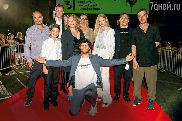 Александр Молочников с коллегами на премьере фильма «Скажи ей»