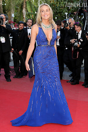 Шарон Стоун на Каннском кинофестивале. 2013 г.