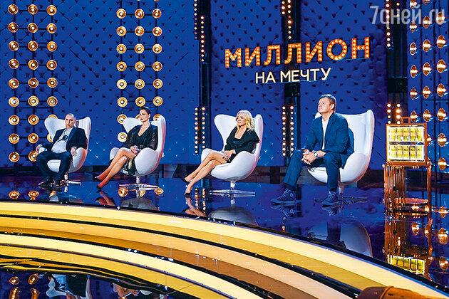 Андрей Трубников, Настасья Самбурская, Яна Рудковская и Дмитрий Губерниев