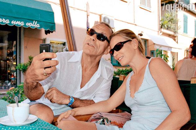 С мужем Андреем Кончаловским в Италии