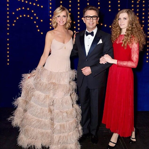 Валерий Сюткин с ;женой и дочерью