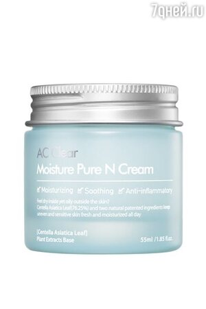 Увлажняющий крем с мадекассосидом AC Clear Moisture Pure N Cream, The Plant Base