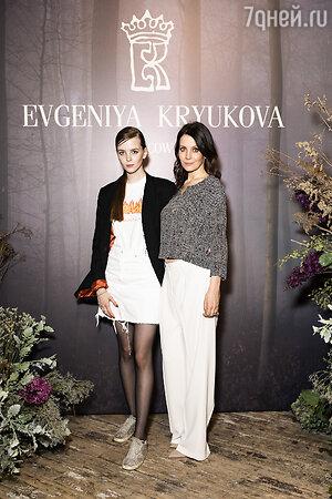 Евгения Крюкова с дочерью Дуней