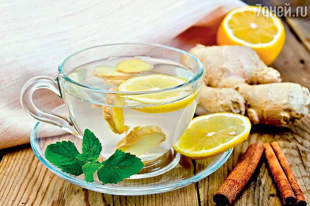 Лимонно-имбирный морс