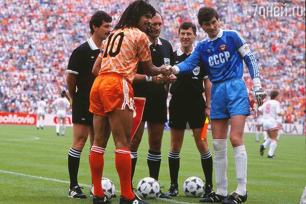 Легенды футбола: Рууд Гуллит и Ринат Дасаев