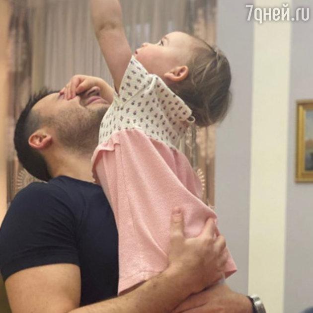 Эмин Агаларов с дочкой Афиной