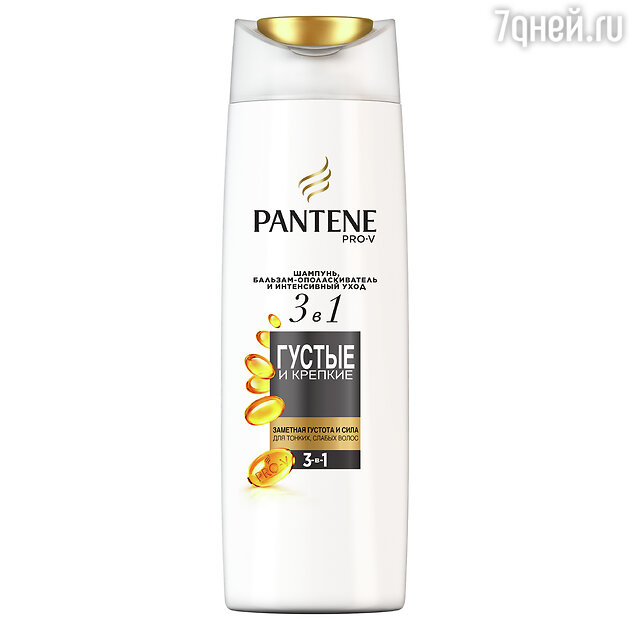 Шампунь, бальзам-ополаскиватель и интенсивный уход 3 в 1 «Густые и крепкие», Nutrient Blends, Pantene Pro-V