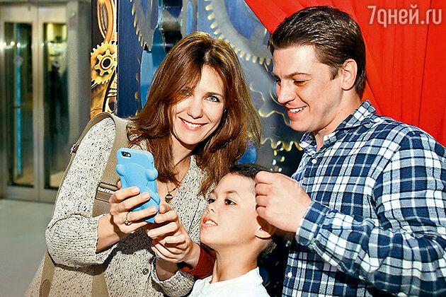 Екатерина Климова с сыном Матвеем имужем Гелой Месхи