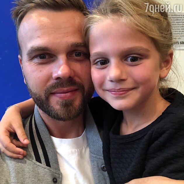 Максим Чернявский с дочкой Моникой
