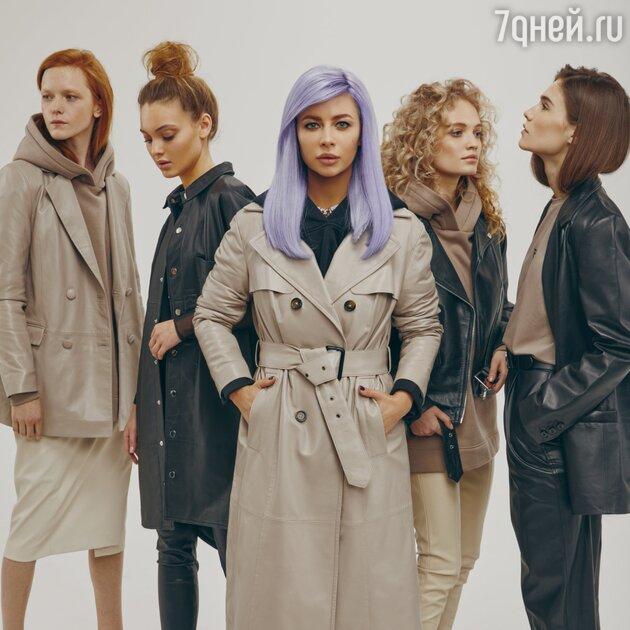 Лина Дембикова и модели из капсулы