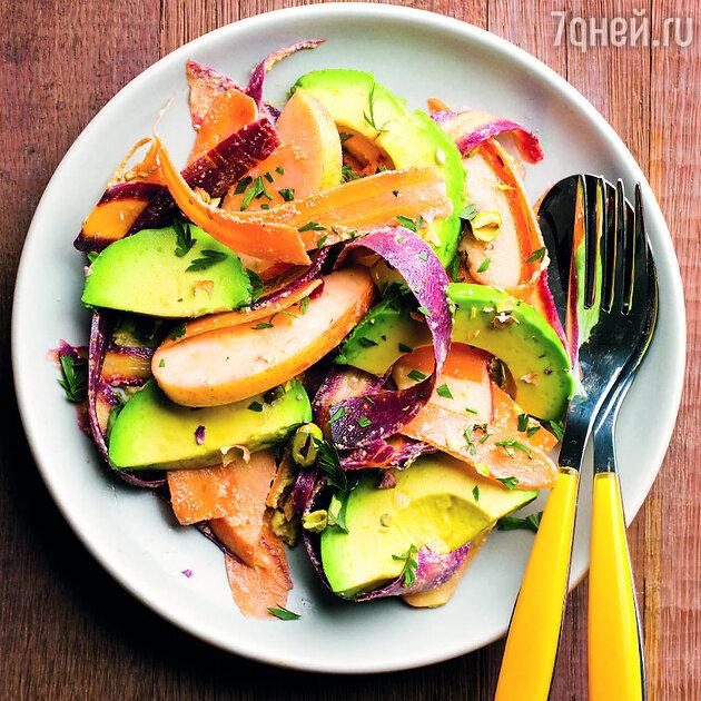 Салат с морковью, яблоком и авокадо: рецепт вкусной и полезной закуски. фото