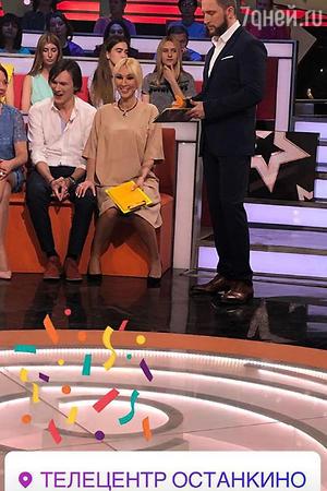 Лера Кудрявцева и Оскар Кучера на съемках «Звезды сошлись»