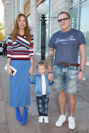 Наталья Подолськая и Владимир Пресняков с сыном Артемием