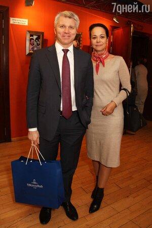 Александр Колобков с женой