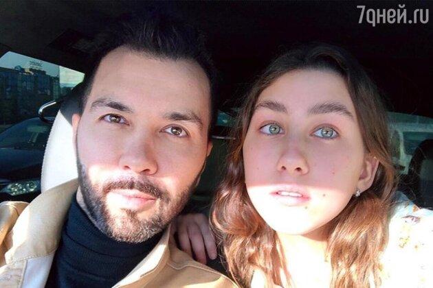 Денис Клявер с дочерью Эвелин
