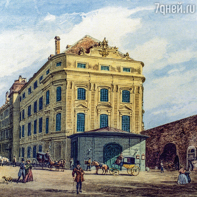 Фото репродукции рисунка Ф. Векбродта «Кернтнертор-театр». 1860 г. Theatre Collection of the University of Cologne