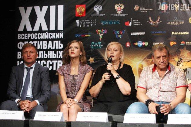 Александр Джеус, Лиза Арзамасова, Лариса Преториус и Президент фестиваля Борис Грачевский