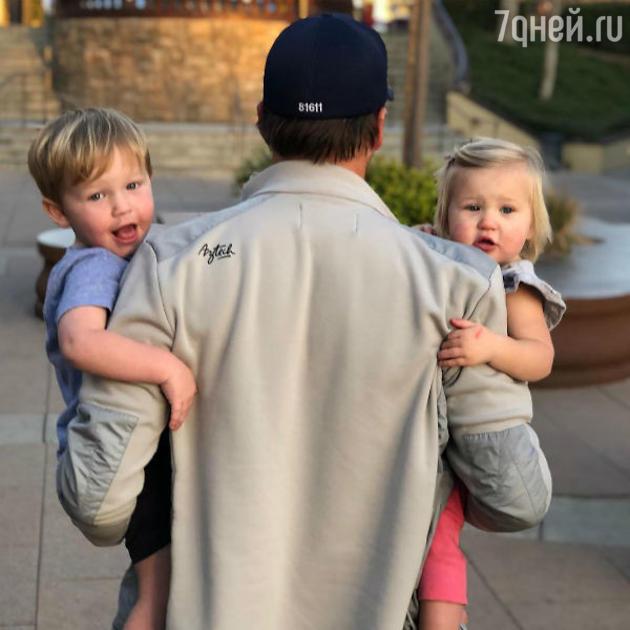 Боде Миллер с детьми: Нэшем и Эмелин