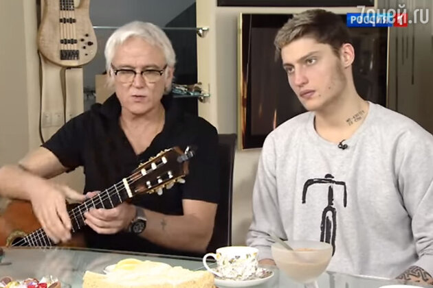 Александр Маршал с сыном Артемом