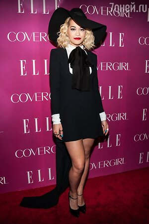 Рита Ора в платье от Saint Laurent на церемонии 4th Annual ELLE Women in Music Celebration в 2013 году