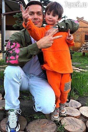 С сыном Петром