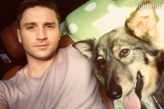 Сергей Лазарев с новой собакой