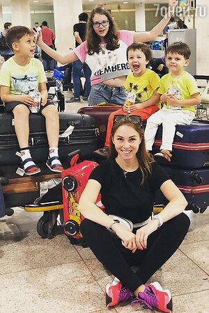 Полина Диброва с детьми