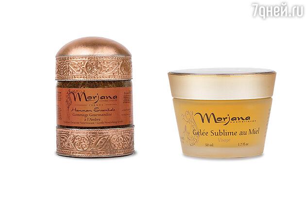 Скраб для тела с амбровым ароматом и гель-маска для лица «Медовая» Morjana