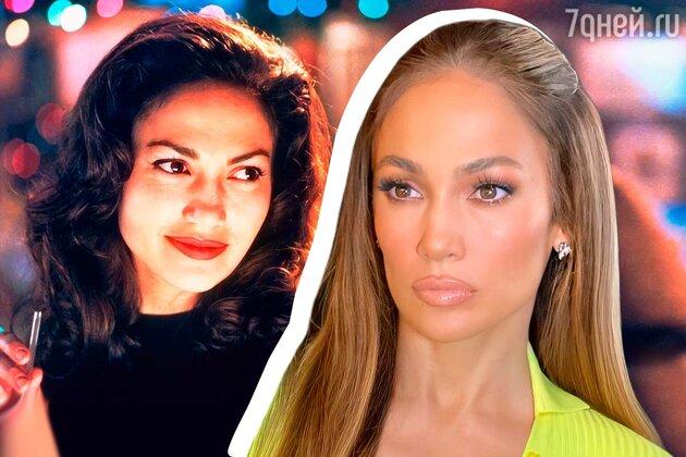 Дженнифер Лопес до и после ринопластики фото