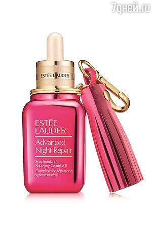 Сыворотка Advanced Night Repair, Estee Lauder, в дизайне, посвященном кампании против рака груди