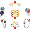 1 - Lav'z Jewellery, 2 - Sokolov, 3 - Wanna? Be! 4 - UNOde50, 5 - Tous, 6 - Sokolov, 7 - Pandora